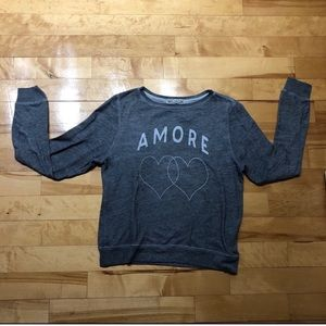 Wildfox Gray 'Amore' Sweater